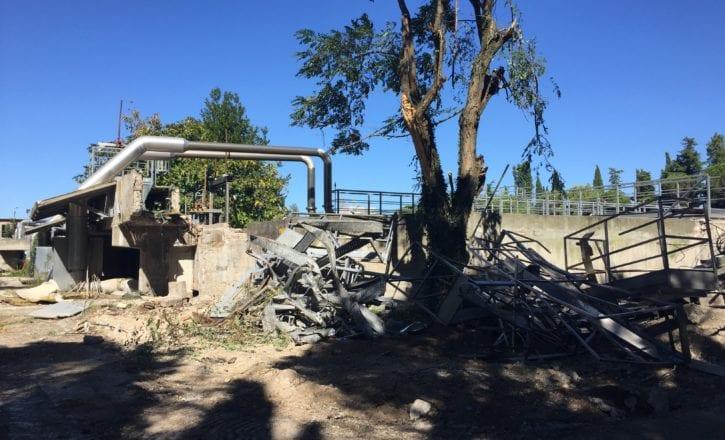 Demolizione bonifica ambientale recupero depuratore Marecchiese Rimini