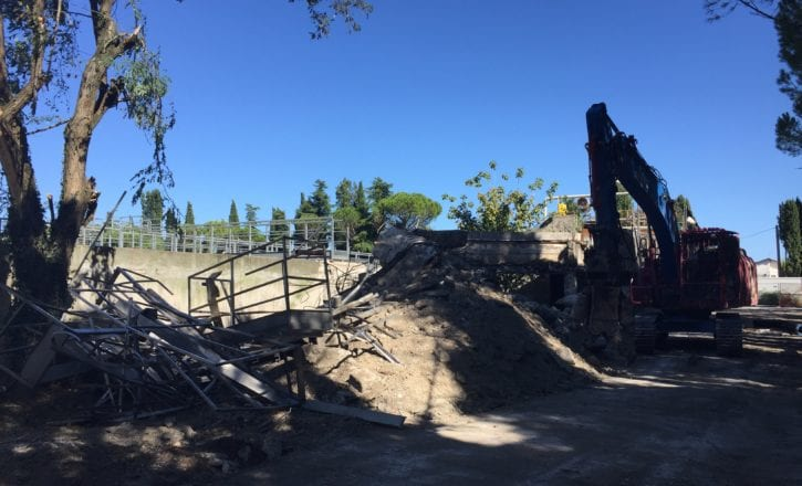 Demolizione bonifica inerti depuratore Marecchiese Rimini