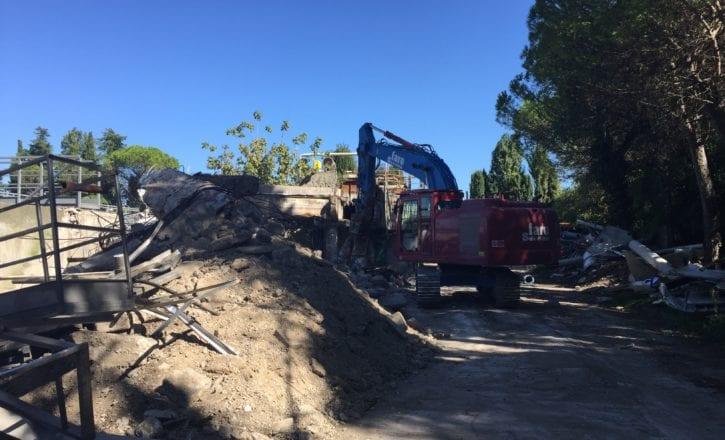 Demolizione raccolta inerti depuratore Marecchiese Rimini