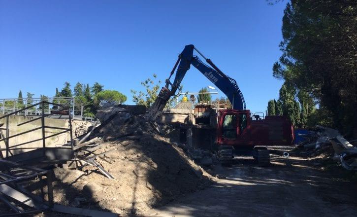 Demolizione scavi depuratore Marecchiese Rimini