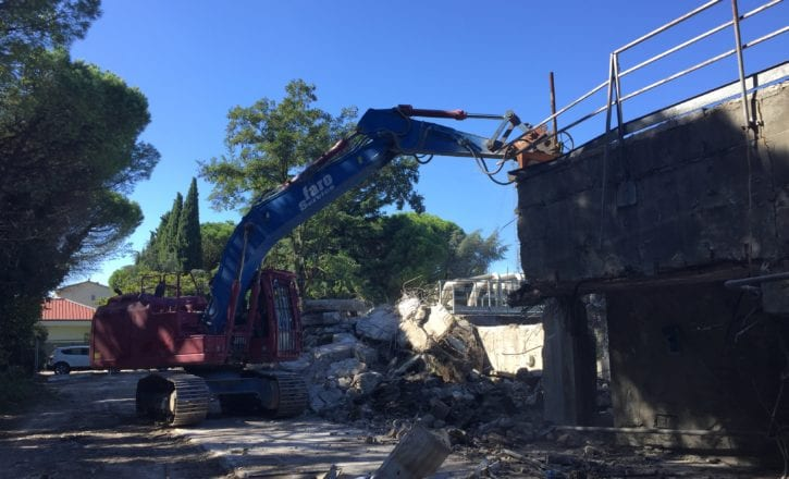 Demolizione smaltimento cemento depuratore Marecchiese Rimini