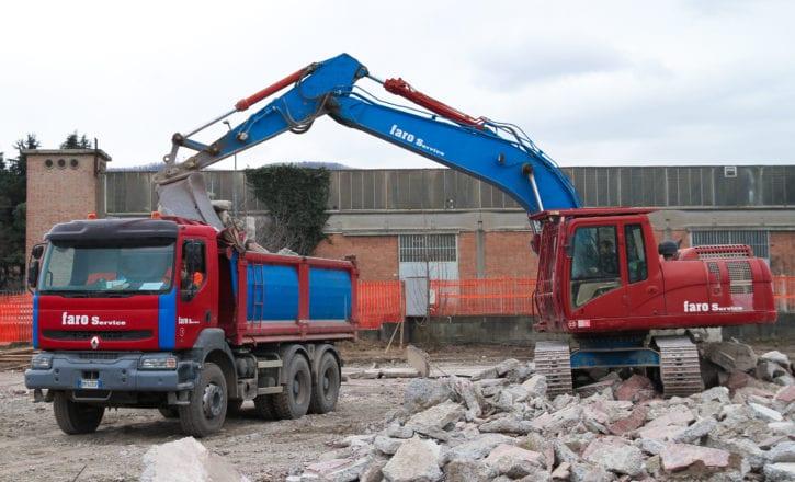 Scavi recupero inerti cemento Decathlon Zola Predosa Bologna