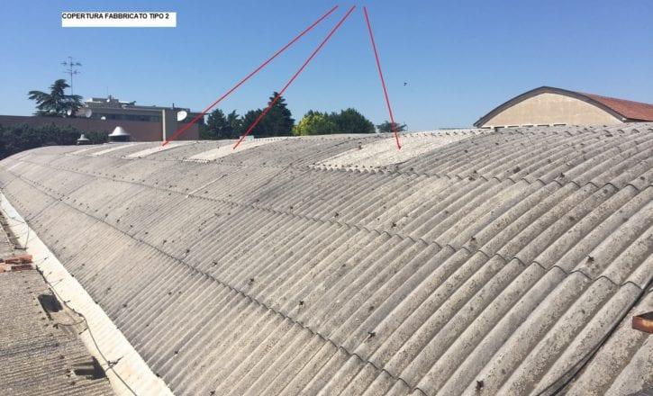 Demolizione copertura cemento amianto inerti stabilimento Conti Editore San Lazzaro di Savena Bologna