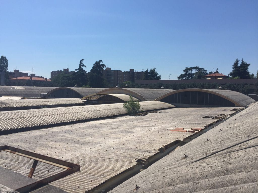 Demolizione bonifica copertura amianto fabbricato Conti Editore San Lazzaro di Savena Bologna