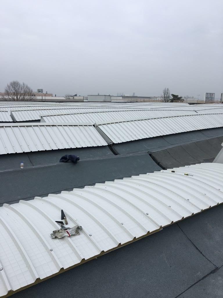 Bonifica cemento-amianto recupero copertura IMA SPA Bentivoglio