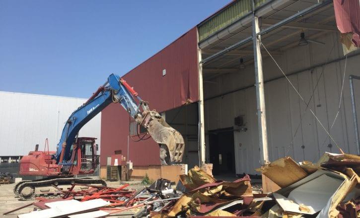 Bonifica copertura cemento amianto demolizione fabbricati YOOX Zola Predosa Bologna