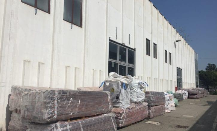 Bonifica copertura cemento amianto demolizione recupero fabbricati YOOX Zola Predosa Bologna