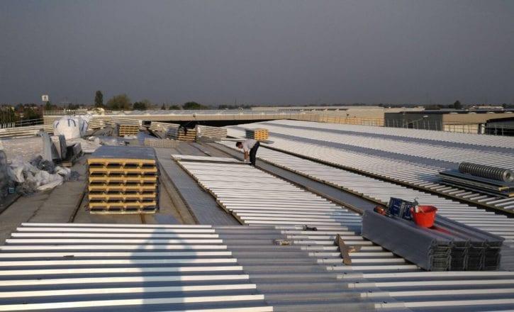 Rifacimento copertura inerti impermeabilizzanti sede GLS Sala Bolognese